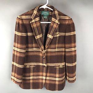 Ralph Lauren brown plaid blazer jacket